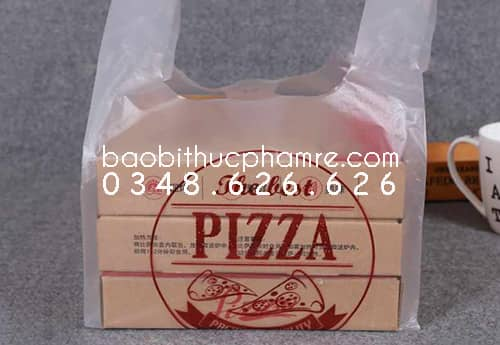 Túi nilon đựng hộp bánh pizza L 1.1