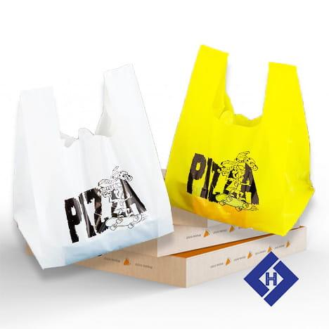 Túi nilon đựng hộp bánh pizza L