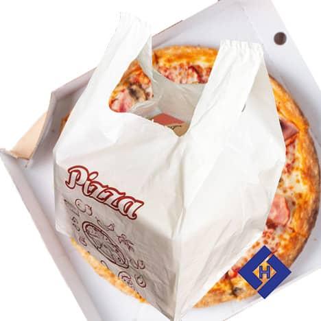 Túi nilon đựng hộp bánh pizza M