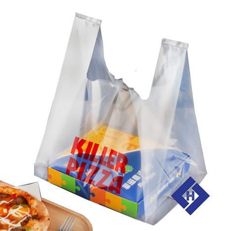 Túi nilon đựng hộp bánh pizza S
