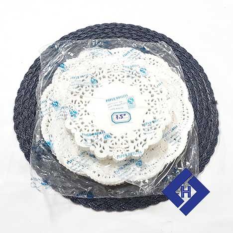 Giấy lót bánh 265mm round white paper doilies