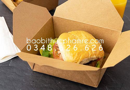 Hộp giấy hamburger bán sẵn ở đâu 2